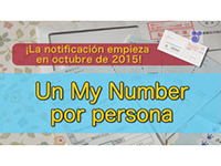 Notification beginning in October 2015! One'My Number'for each person(Spanish)
