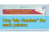 Notification beginning in October 2015! One'My Number'for each person(English)