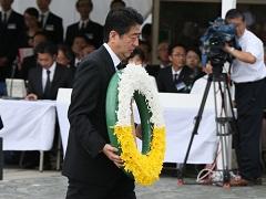 長崎原爆犠牲者慰霊平和祈念式典参列等-平成26年8月9日