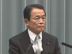 第2次安倍改造内閣閣僚記者会見「麻生太郎大臣」
