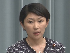 第2次安倍改造内閣閣僚記者会見「小渕優子大臣」