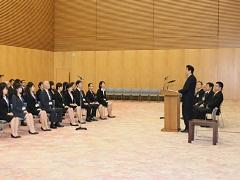 日本語パートナーズ第1期派遣者の表敬-平成26年9月11日