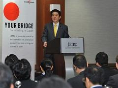 対日投資セミナー 安倍総理挨拶-平成26年9月23日(現地時間)