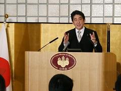 安倍内閣総理大臣年頭記者会見-平成27年1月5日