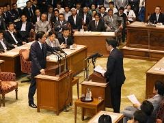 国家基本政策委員会両院合同審査会(党首討論)-平成27年6月17日