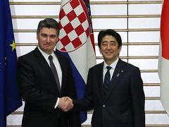 日・クロアチア首脳会談等-平成27年6月17日