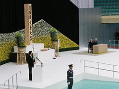 全国戦没者追悼式 内閣総理大臣式辞-平成27年8月15日