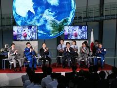 油井宇宙飛行士との交信-平成27年8月26日