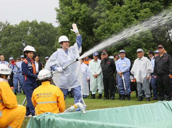 平成27年度総合防災訓練-平成27年9月1日