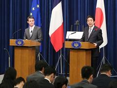 日仏共同記者会見-平成27年10月5日