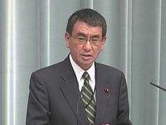 第3次安倍改造内閣閣僚記者会見「河野太郎大臣」