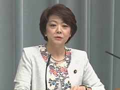 第3次安倍改造内閣閣僚記者会見「島尻安伊子大臣」