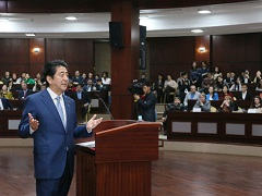 カザフスタンにおける安倍内閣総理大臣政策スピーチ-平成27年10月27日