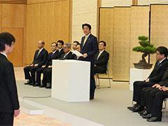 内閣及び内閣府永年勤続者表彰式-平成27年12月22日