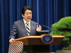 安倍内閣総理大臣年頭記者会見-平成28年1月4日
