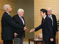 日米国会議員会議参加議員一行による表敬-平成28年1月20日