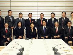 在米日系人リーダー招へい者一行による表敬-平成28年3月9日