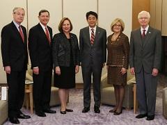 デブ・フィッシャー米国上院議員一行による表敬-平成28年3月25日