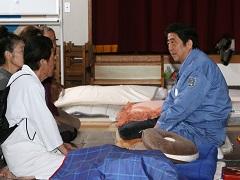 熊本地震による被害状況視察のための熊本県下訪問-平成28年4月23日