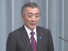 第3次安倍第2次改造内閣閣僚記者会見「松本純大臣」