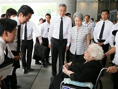 ナザン・シンガポール前大統領の逝去を受けた弔問-平成28年8月25日