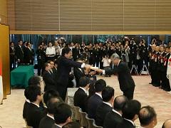 防災功労者内閣総理大臣表彰式-平成28年9月12日