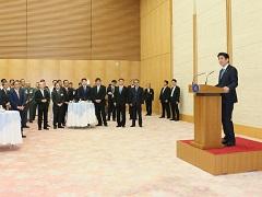 自衛隊高級幹部会同に伴う総理主催懇親会-平成28年9月12日