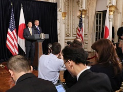 北朝鮮による弾道ミサイル発射事案を受けた日米共同記者発表-平成29年2月11日