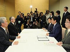 神津連合会長及び榊原経団連会長による訪問-平成29年3月13日