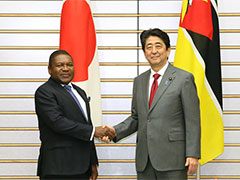 日・モザンビーク首脳会談等-平成29年3月15日