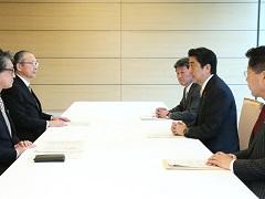 日本労働組合総連合会との面会-平成29年4月24日