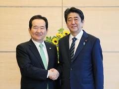 丁世均韓国国会議長一行による表敬-平成29年6月8日