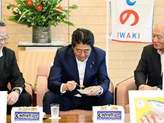 いわき海産物・海水浴場PRキャンペーン一行による表敬-平成29年7月27日