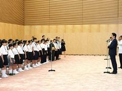 沖縄豆記者団及び函館豆記者団による表敬-平成29年8月1日