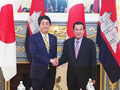 日・カンボジア首脳会談等-平成29年8月7日