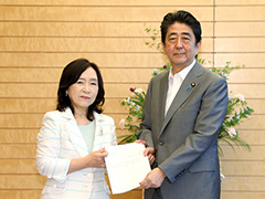 人事院勧告の手交-平成29年8月8日