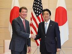 ハガティ駐日米国大使による表敬-平成29年8月18日