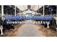 世界が認めた日本のBSE対策 検査対象が48か月齢を超える牛に