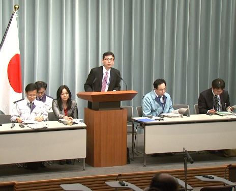 Press Briefing(The Situation after the Great East Japan Earthquake)(April 18th, 2011, at 19:30)