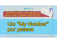 Notification beginning in October 2015! One'My Number'for each person(Portuguese)