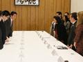 在米日系人リーダー招へい者一行による表敬-平成26年3月12日