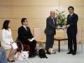 障害者補助犬の利用者による表敬-平成26年5月22日