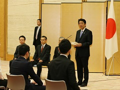 人命救助内閣総理大臣感謝状授与式-平成27年12月14日