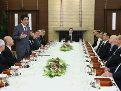 日本語を話す駐日各国大使との昼食会-平成27年12月15日