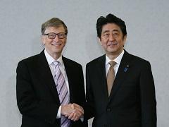 ビル・ゲイツ「ビル&メリンダ・ゲイツ財団」共同議長による表敬-平成27年12月16日