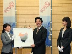 「かこがわコットンプロジェクト」による記念品贈呈-平成27年12月16日
