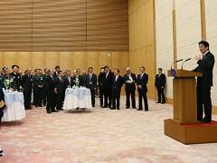 自衛隊高級幹部会同に伴う総理主催懇親会-平成27年12月16日