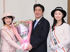 淡路島の花卉贈呈-平成27年12月21日