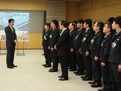 東京電力福島第一原発の廃炉・汚染水作業チームによる表敬-平成28年4月14日