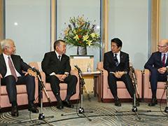G7下院議長会議各国議長による表敬-平成28年9月1日